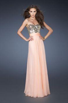 2014 Sweetheart Rhinestone Beaded Bodice Pleated Waistline Prom Dress Chiffon Floor Length USD 136.99 VPQEKFGA5 - VoguePromDresses