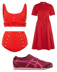 """Untitled #2433"" by bellagioia ❤ liked on Polyvore featuring Lisa Marie Fernandez, Vanessa Seward and Onitsuka Tiger"