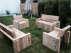 DIY Beefy Pallet #Benches and Chairs | 101 Pallet Ideas
