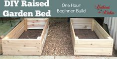 DIY Raised Garden Bed: Our Hour Beginner Level #raisedgardenbed #gardenbed #gardentips #diy #outdoorliving #beginnergarden #gardentips #gardening #garden #howtoplantagarden #beginnerbuildingprojects #easybuildingprojects #beginnerwoodworking #planterbox #curbappeal