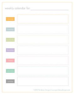 Cute And Simple Free Printable Weekly Planner From