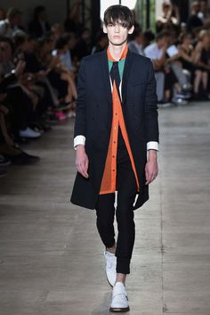 slim shawl lapel DB coat | Ann Demeulemeester Spring 2016 Menswear - Collection - Gallery - Style.com