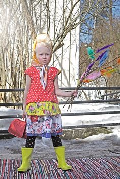 Finnish/Swedish Easter Witch - knocking on doors & trading good wishes & decorated catkins for chocolate & easter eggs.
