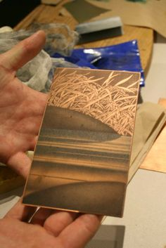 Gold Leaf and Mezzotint by Katsunori Hamanishi, one of the most renown contemporary Japanese print makers.