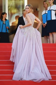 Kimberley Garner in GEORGES HOBEIKA attends the 'How To Talk To Girls At Parties' premiere during the 70th annual Cannes Film Festival at Palais des Festivals on May 21...