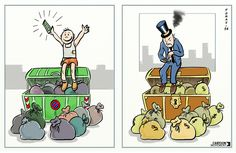 More money does not equate more happiness. Today's cartoon by Tomas.