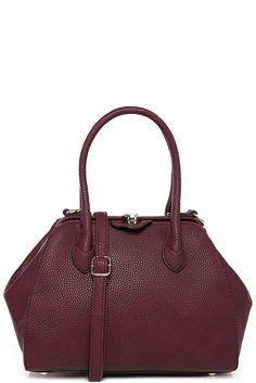 Womens Ladies Medium Sized Burgundy Faux Leather Handbag Grab Bag NEW Satchel Grab Bags, Going Out, Shoulder Strap, Satchel, Burgundy, Medium, Lady, Leather, Stuff To Buy