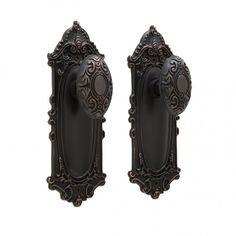 Victorian Door Knob & Plate Set - Privacy, Passage and Dummy  www.signaturehardware.com  $49.99