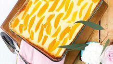Aurinkoinen kakku pääsiäiseen! Tarun rahkapiirakka hurmaa taatusti - Ajankohtaista - Ilta-Sanomat Dessert Recipes, Desserts, Recipies, Mango, Baking, Cake, Ethnic Recipes, Sweet, Candies