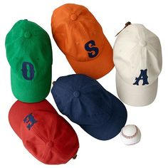 Initial Ball Cap (for Zack since he doesn't care about the sports) Personalized Gifts For Her, Personalized Tote Bags, Monogram Hats, Mark And Graham, Unique Gifts For Her, Outfits With Hats, Love To Shop, Girls Wear, Initials