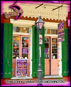Another daytime shot of Erzulie's Voodoo store in the French Quarter...New Orleans Voodoo Shop