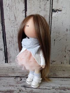 Baby doll Cloth doll Art doll handmade от AnnKirillartPlace