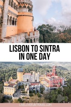 Find the perfect one day Sintra itinerary here with a free map! Whether you are taking a Lisbon to Sintra day trip or planning a longer stay in Sintra, this guide goes over how to get from Lisbon to Sintra (one of the best day trips from Lisbon) and the best things to do in Sintra. Get tips to visit the Sintra castles including Pena Palace Sintra, Quinta de Regaleira and more. | sintra day trip itinerary | sintra portugal day trip | day trip to sintra from lisbon | what to do in Sintra Europe Travel Guide, Travel Guides, Travel Destinations, Travel Packing, Algarve, Pena Palace, Day Trips From Lisbon, Portugal Travel, Portugal Trip