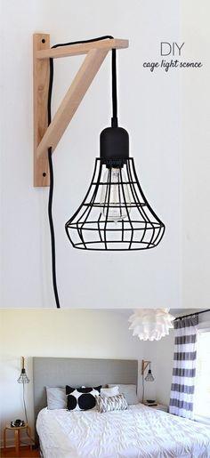 Lámpara DIY de aspecto industrial - Muy Ingenioso