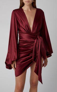 Get inspired and discover Alexandre Vauthier trunkshow! Shop the latest Alexandre Vauthier collection at Moda Operandi. Satin Mini Dress, Satin Dresses, Silk Dress, Dress Up, Gowns, Draped Dress, Silk Skirt, Alexandre Vauthier, Pretty Dresses