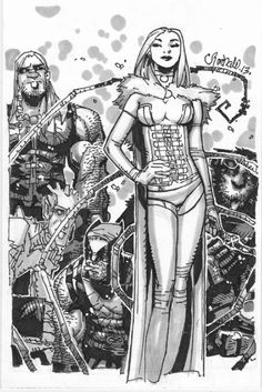 Chris Bachalo - Emma White Queen Frost, in miles dufrasne's Chris Bachalo Comic Art Gallery Room - 1036071