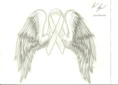 tattoos breast cancer ribbons | Breast cancer ribbon with wings by ~naageson95 on deviantART