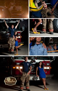 Hot couple | Shared by LION This would be cute with my hubby in his wildfire gear and engine