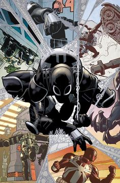 Amazing Spider-Man :: Eugene Thompson / Agent Venom - Art by Paulo Siqueira, colors by Fabio D'Auria Comic Book Characters, Marvel Characters, Comic Character, Comic Books Art, Comic Art, Hq Marvel, Marvel Venom, Marvel Dc Comics, Marvel Heroes