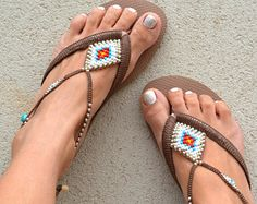 Purple Sandals Anklet Sandals Flip Flops Hippie Chic Women
