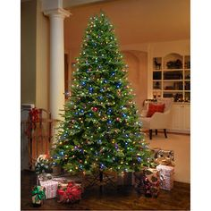 Costco - GE 7.5 ft Artificial Aspen Fir Pre-Lit LED Easy Light Technology Dual Color Christmas Tree