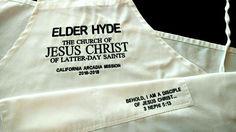 LDS elder missionary apron 100116