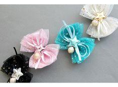 (SAMPLE-BK505)별그대 리본 집게핀 Tulle Bows, Ribbon Hair Bows, Diy Hair Bows, Diy Bow, Fabric Bows, Bow Hair Clips, Fabric Flowers, Diy Hair Accessories, Girls Bows