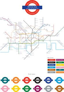 Tube Map Table Plan: Gemma Milly Wedding Stationery and Design