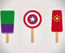 Superhero Ice Pops by Chung Kong///http://society6.com/Chungkong