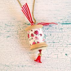 14 Days of Love- Sweet Vintage Spool Necklaces | My So Called Crafty Life