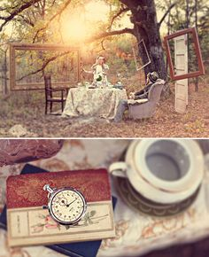Alice in Wonderland Engagement Photos by Hunter Leone: The Mad Hatter's Tea Party