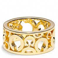 Coach :: HALF INCH HINGED SIGNATURE C TURNLOCK BANGLE