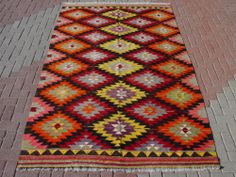 "Anatolia Turkish Antalya Barak Kilim 114"" x 71"" Area Rug Kelim Carpet | eBay"