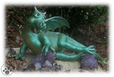 Draco full view  Polymer clay dragon, hand sculpted out of polymer clay by crafts4joy without any molds used.