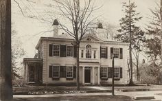 Connecticut White House  RPPC  New Milford CT  1927  photo postcard  Annies Home