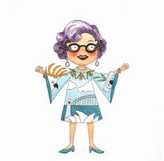 Dame Edna, illustrations, famous people, children's illustrations, children's books