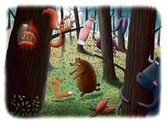Rys. Piotr Socha Magazine Illustration, Illustration Art, Naive, Children's Books, Sketching, Illustrators, Fairy Tales, Concept Art, Portugal