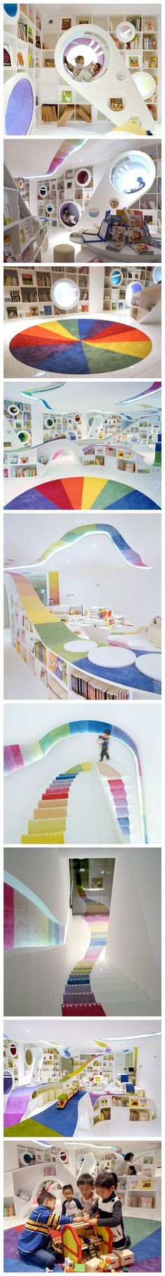 So cool! 【儿童书店,北京,designed by SAKO ,Bookstore for children in Beijin,China