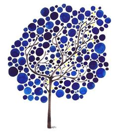 i love dot art - love it even more cause it's blue