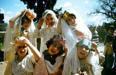 Wonderful Color Photos of Children Celebrating Purim in Israel, 1955