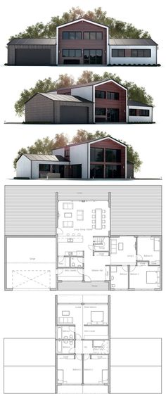 House plan with five bedrooms. Floor plan