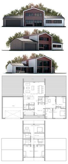House plan with five bedrooms. Floor plan