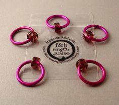 ringOs JUMBO Violet - accroc-libre Ring Stitch marqueurs pour tricot