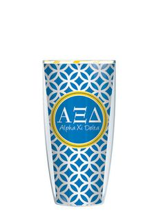 Alpha Xi Delta Tumbler -- Customize with your monogram or name! by GoneGreek on Etsy