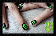 Monster Energy Nail Art