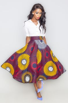 Adissa Lola Skirt ~Latest African Fashion, African Prints, African fashion styles, African clothing, Nigerian style, Ghanaian fashion, African women dresses, African Bags, African shoes, Nigerian fashion, Ankara, Kitenge, Aso okè, Kenté, brocade. ~DKK