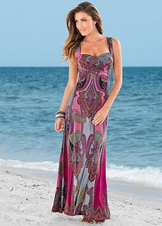 $42 Venus.com Multi Paisley Print Maxi.  This dress looks amazing on!  Love this one.  By far my favorite dress we bought from Venus.