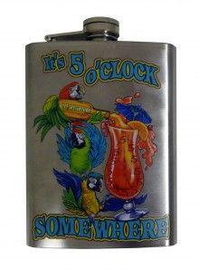 // 5 O'Clock Somewhere Flask