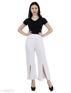 Trousers & Pants Stylish Cotton Spandex Pant Fabric: Cotton spandex Waist Size: S - 30 in To 32 in M - 34 in To 36 in L - 38 in To 40 in Length: Up To 38 in Type: Stitched Description: It Has 1 Piece Of Women's Pant  Pattern: Solid Country of Origin: India Sizes Available: S, M, L   Catalog Rating: ★3.9 (453)  Catalog Name: Ladies Elegant Cotton Spandex Pants Vol 2 CatalogID_175629 C79-SC1034 Code: 114-1362715-9201