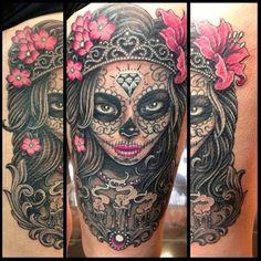 sugar skull nurse tattoo | Sugar Skull Tattoo Meaning